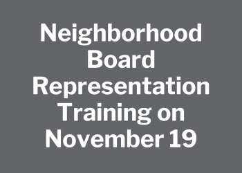 Neighborhood Board Representation Training on November 19
