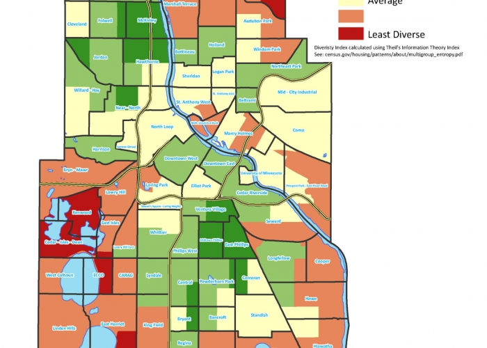 Minneapolis Racial/Ethnic Diversity Index