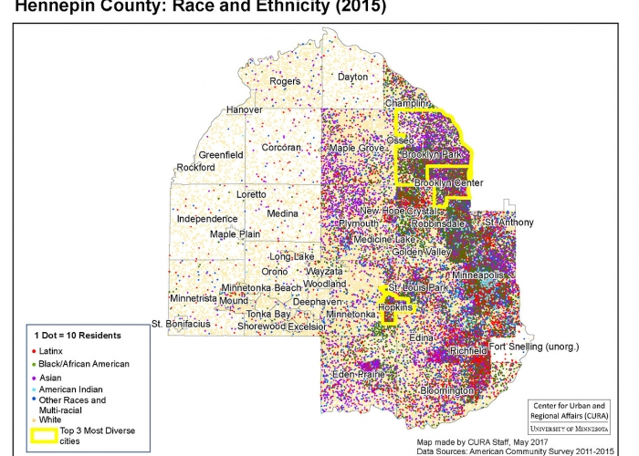 Hennepin County Race and Ethnicity breakdown
