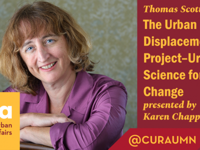 The Urban Displacement Project: Urban Data Science for Policy Change  presented by Karen Chapple, Ph.D.