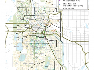 Racial and Ethnic Diversity in Minneapolis (2010 Census)
